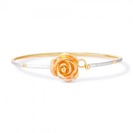30385 - Flower Inspired 22ct Gold Bangle