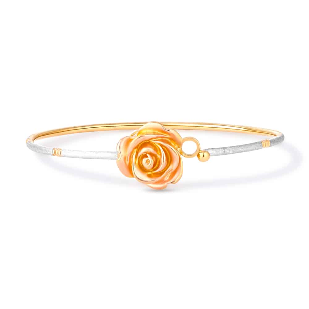 30385 - Flower Inspired 22ct Gold Bangle