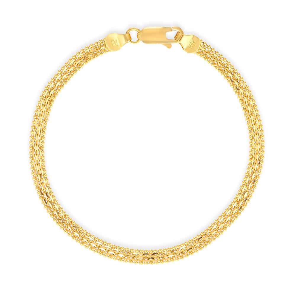 27942 - Ladies Gold Bracelet In 22 Carat