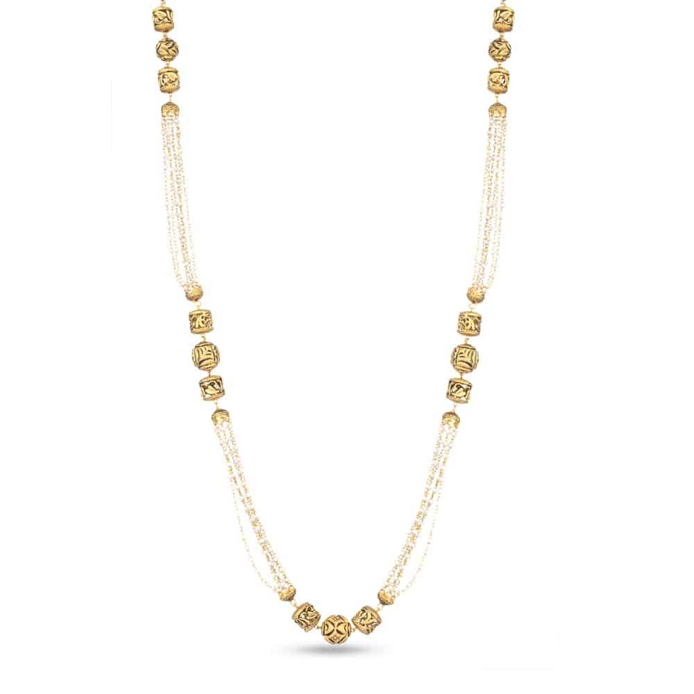 28498 - 22 Carat Gold Pearl Necklace