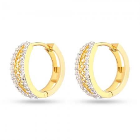 28649 - 22k Gold Indian Hoop Earrings