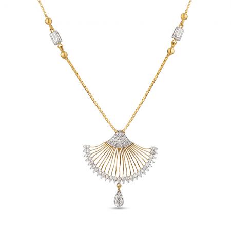 30080 - 22 Carat Gold Cubic Zirconia Necklace