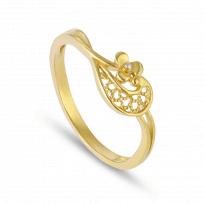 30082 - 22ct Gold Filigree Ring