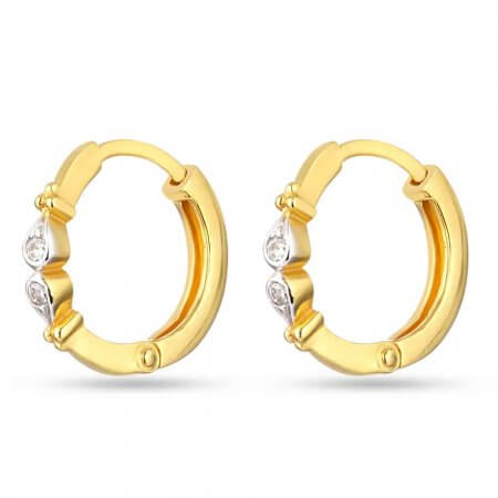30123 - 22k Gold Bali Earrings