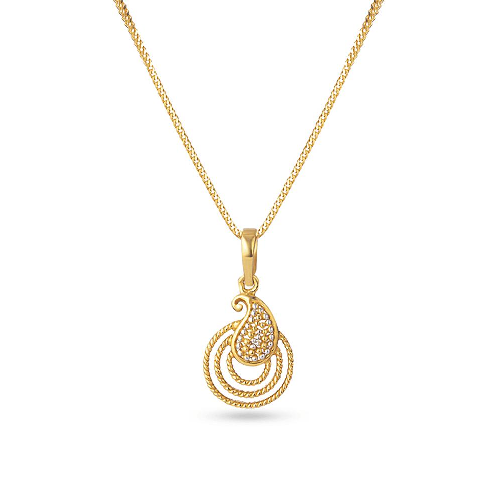 30131 - 22k Asian Gold Pendant