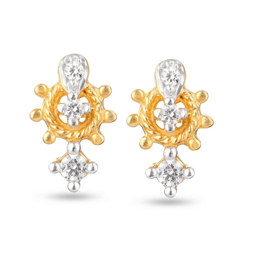 30198 - 22k Gold Stud Earrings UK