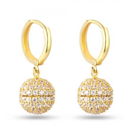 30238 - 22 Carat Gold Drop Ball Balli