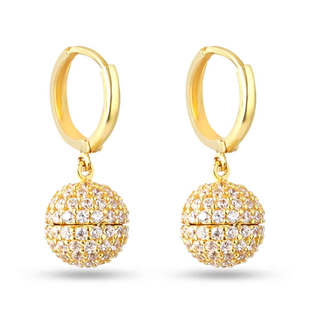 30238 - 22 Carat Gold Drop Ball Balli
