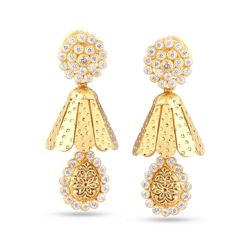 30287 - 22K Gold Wedding Earring Set