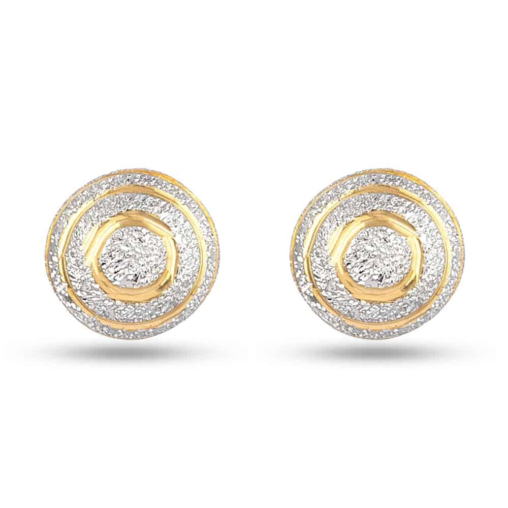 30333 - Indian Gold Stud Earrings