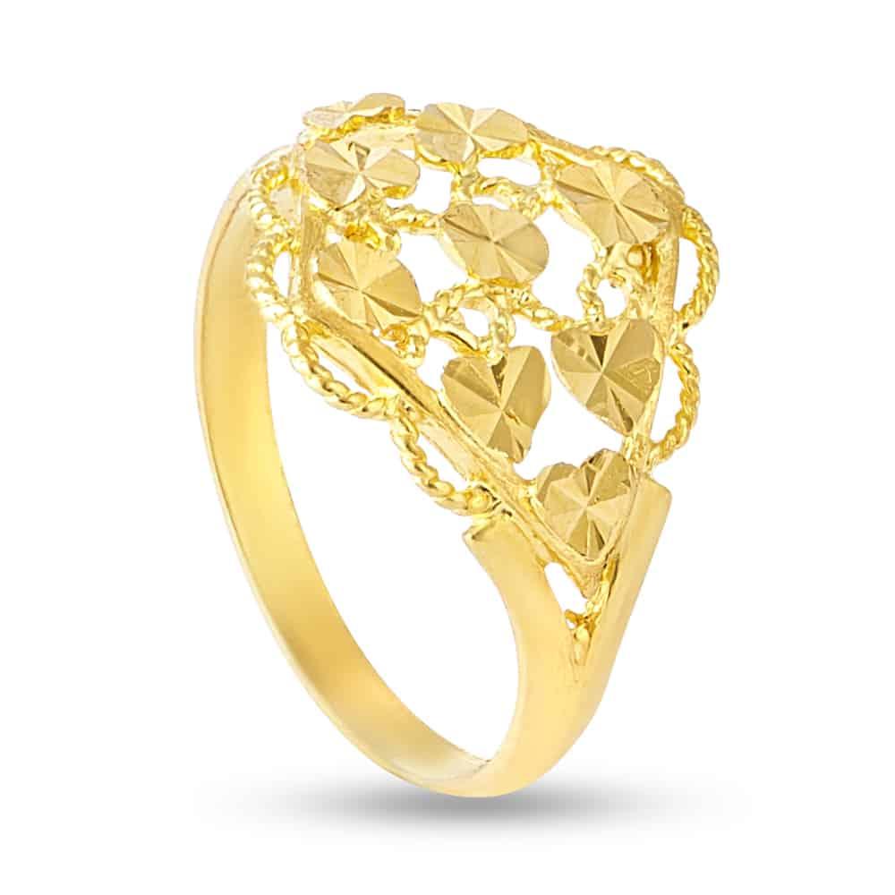 30366 - 22kt Yellow Gold Ladies Ring
