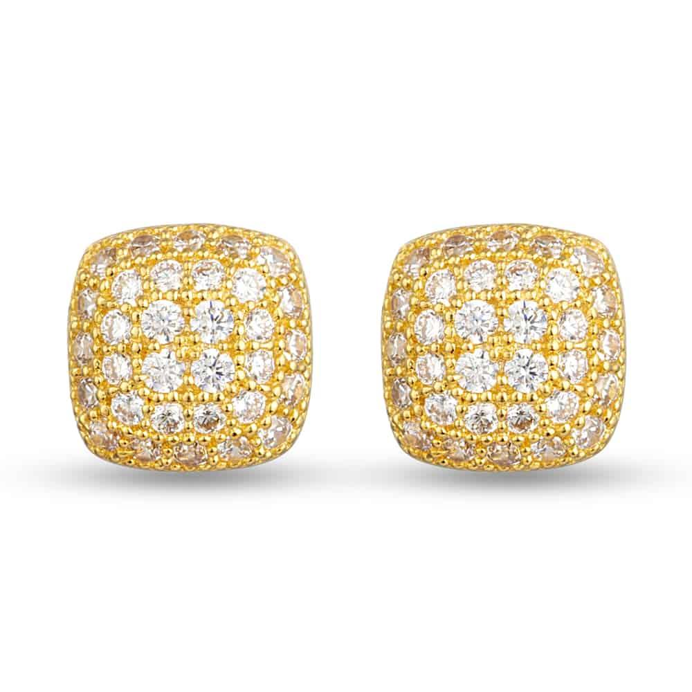 30356 - 22ct Gold Cubic Zirconia Stud Earring