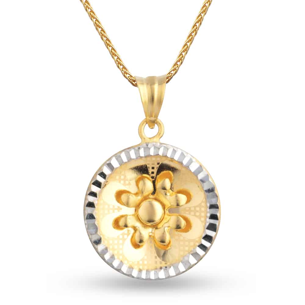 30346 - 22ct Yellow Gold Filigree Pendant
