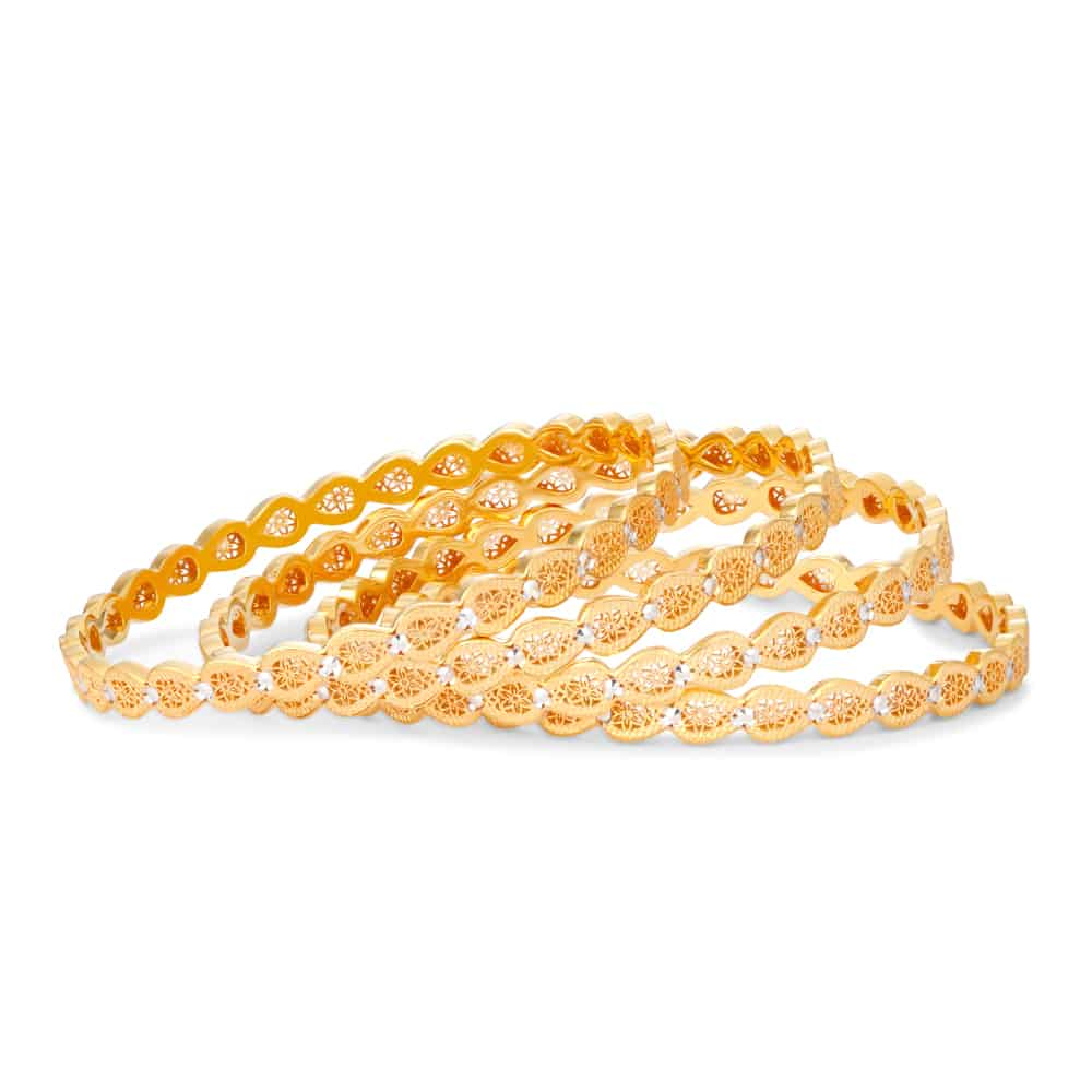 30504, 30505, 30506 - 22ct Gold Daily wear Bangles