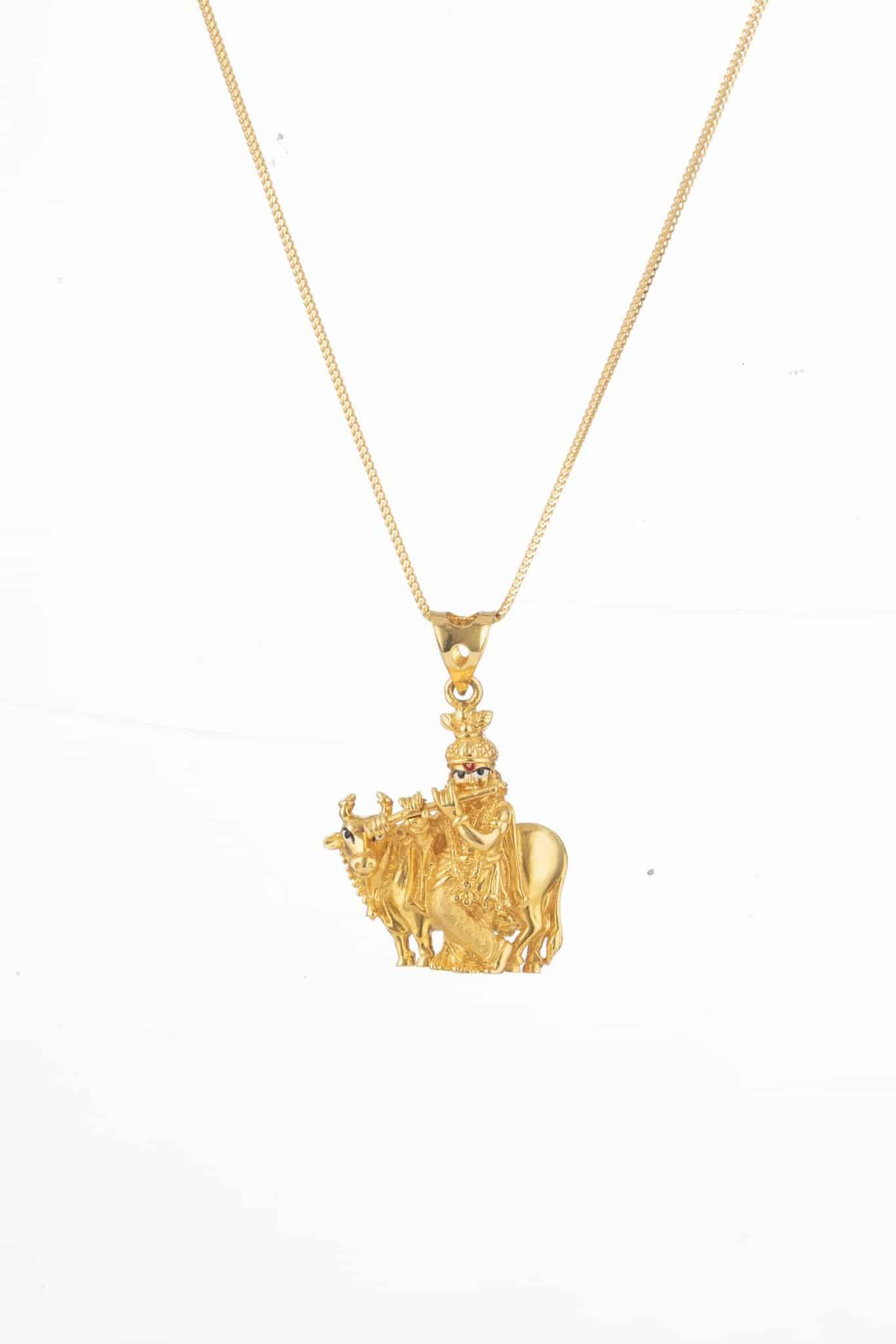 24206 - Lord Sri Krishna Gold Pendant