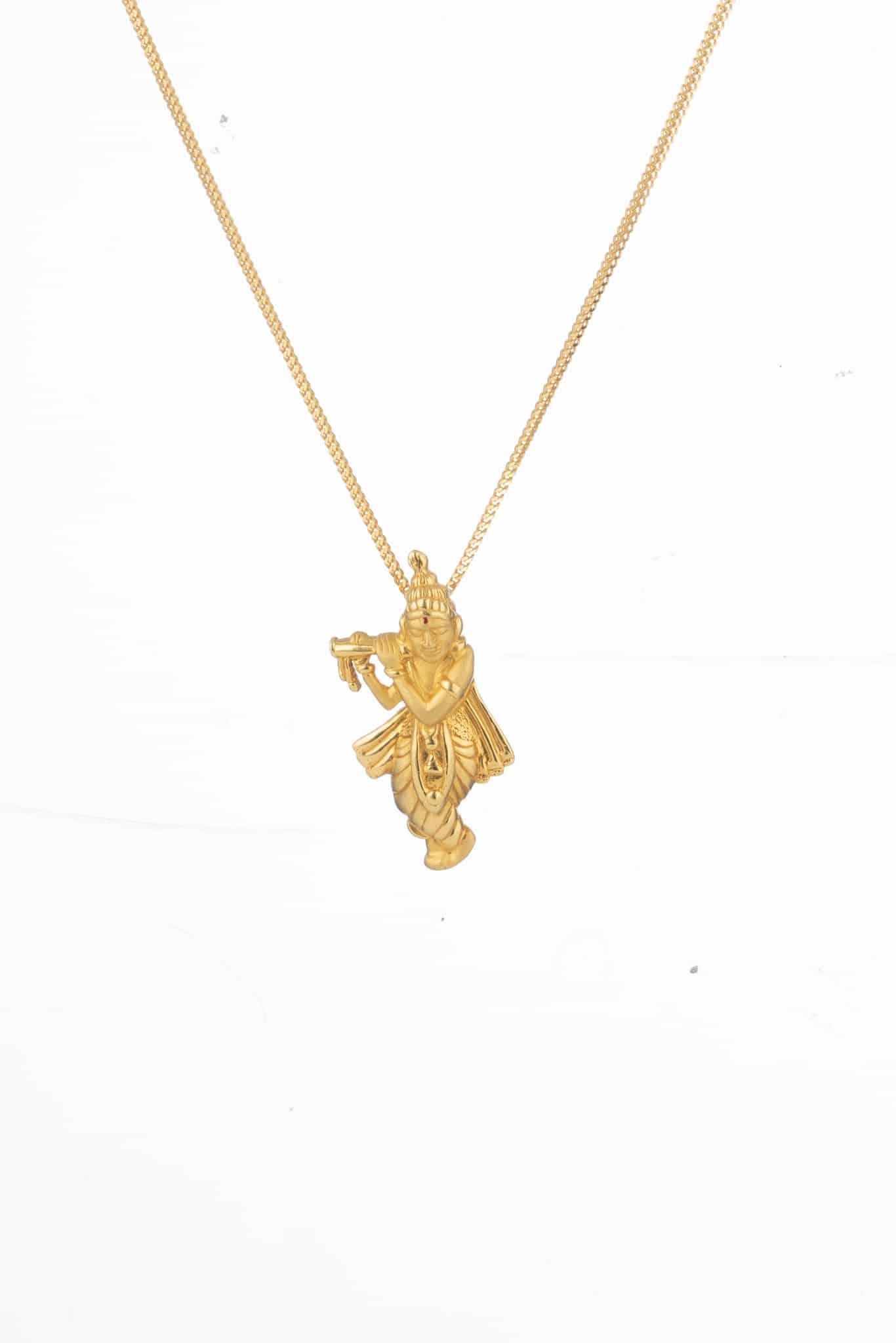 24208 - Lord Sri Krishna Gold Pendant