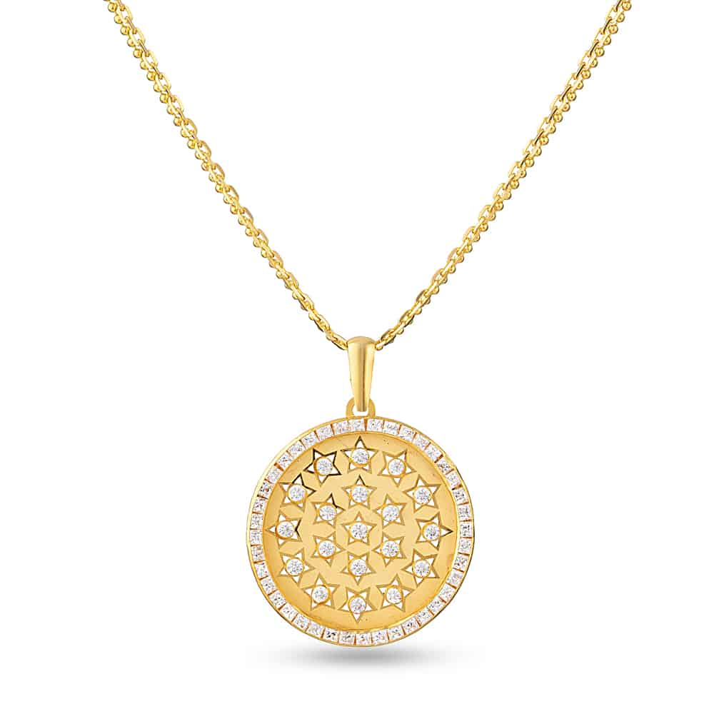 28609 - 22ct Pendant with Cubic-Zirconia stone