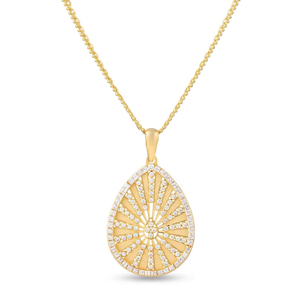 28610 - 22ct Pendant with Cubic-Zirconia stone