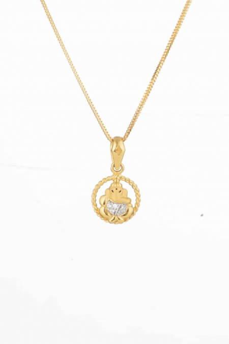 28748 - Ganesh Ji Gold Pendant