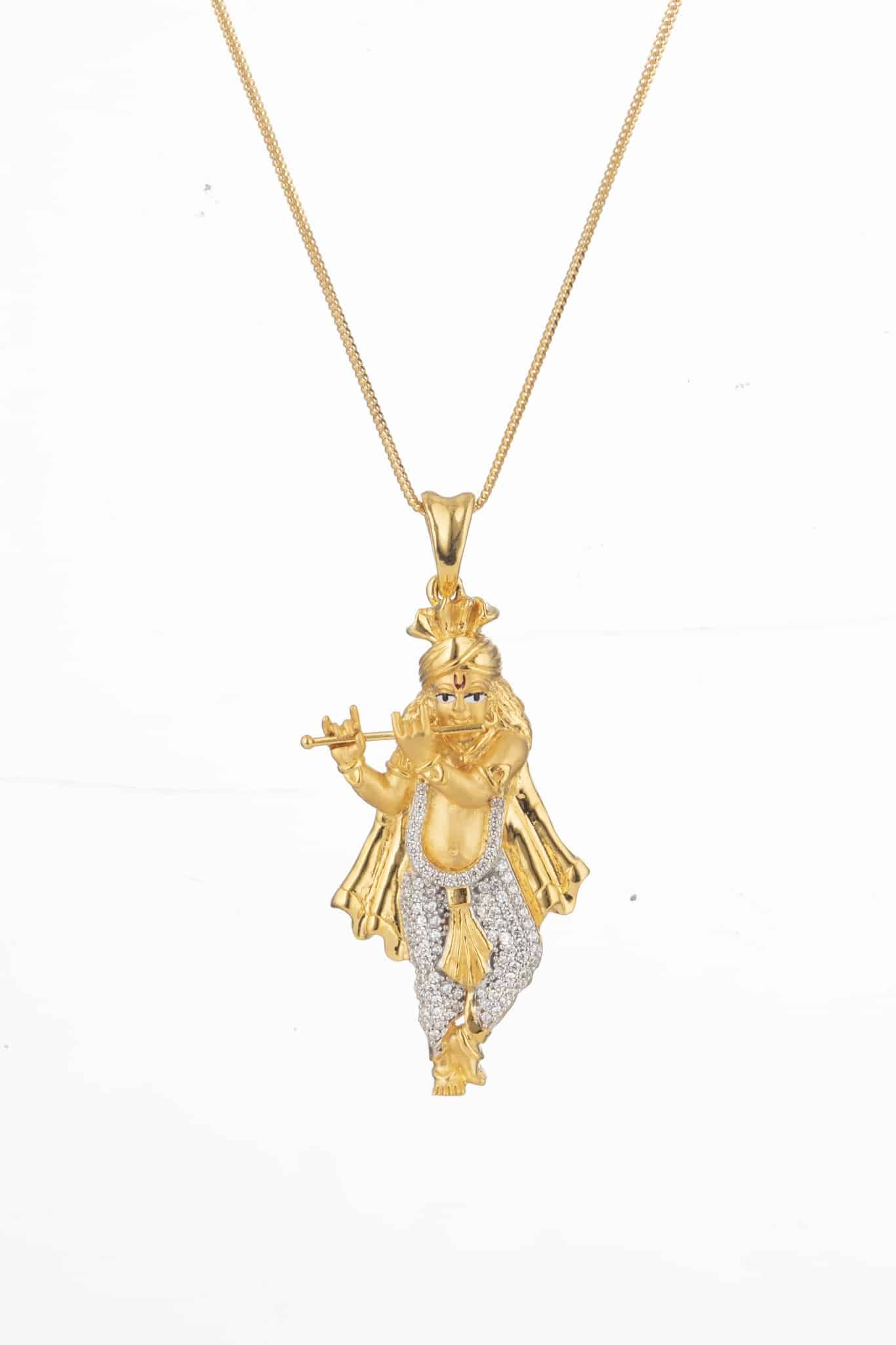 28751 - Lord Sri Krishna Gold Pendant