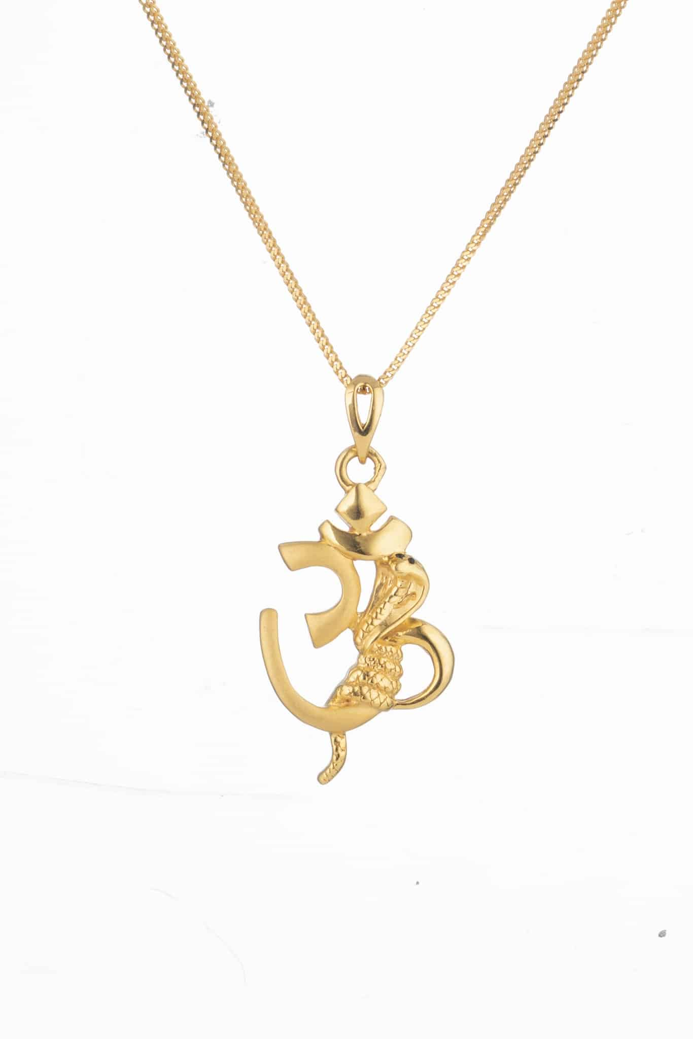 28757 - Fashionable Om Pendant