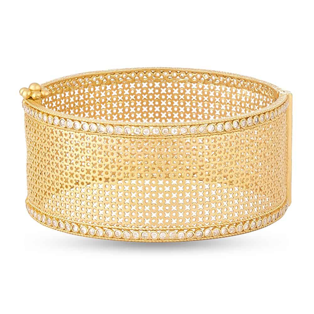 28848 - Anusha 22ct Gold Cuff Bangle