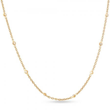 28869 - 22 carat Gold Chain with Polki Stones