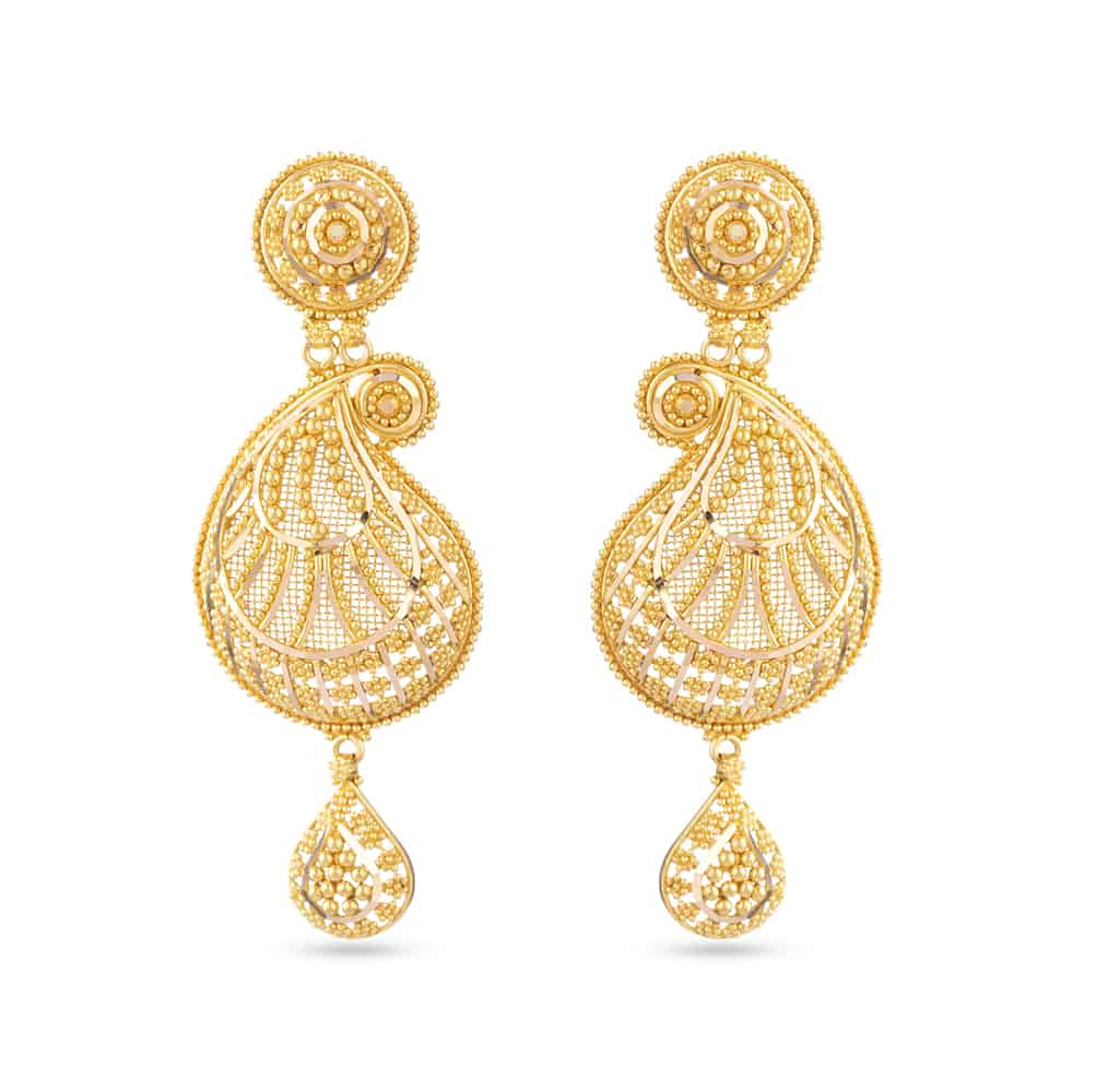 30474 - Gold Wedding Earrings