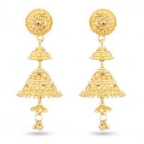 30484 - Gold Bridal Drop Earring