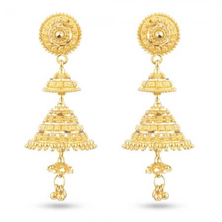 30484 - Gold Bridal Drop Earring