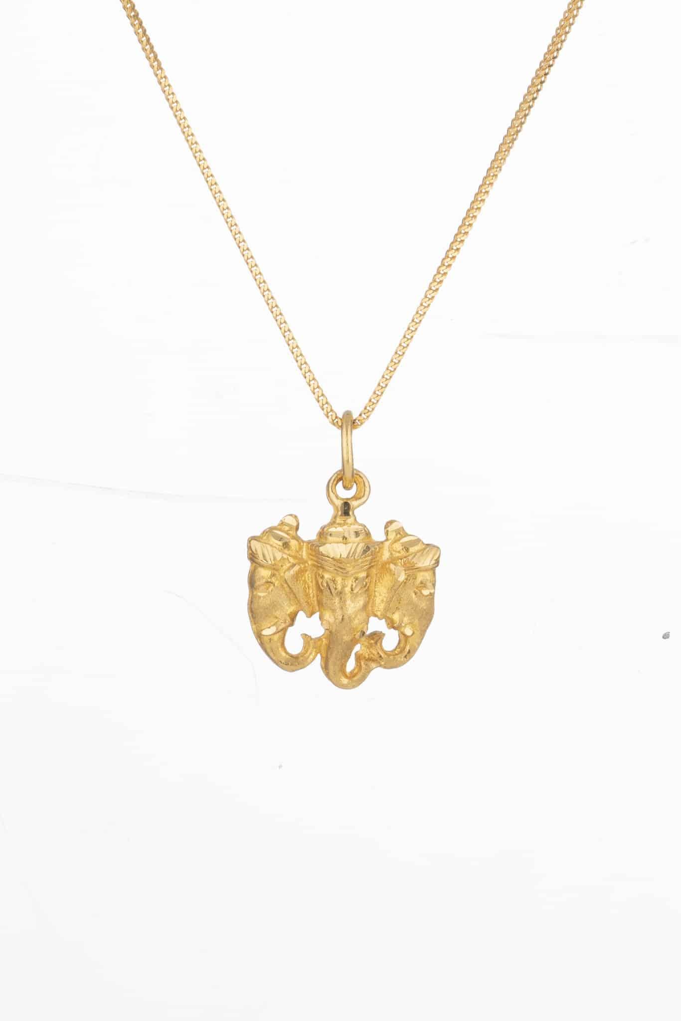 6026 - Ganesh Ji Gold Pendant