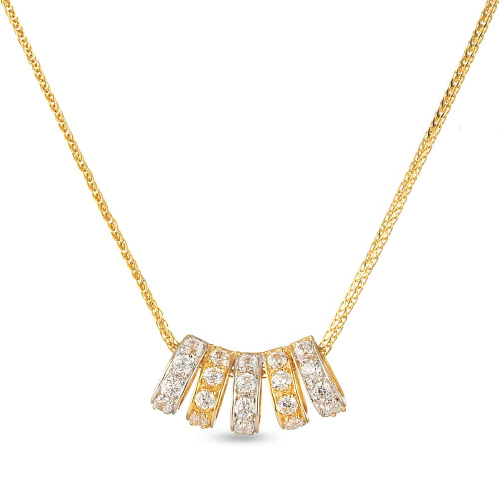 30336 - 22 carat Yellow Gold Pendant with Cz stones