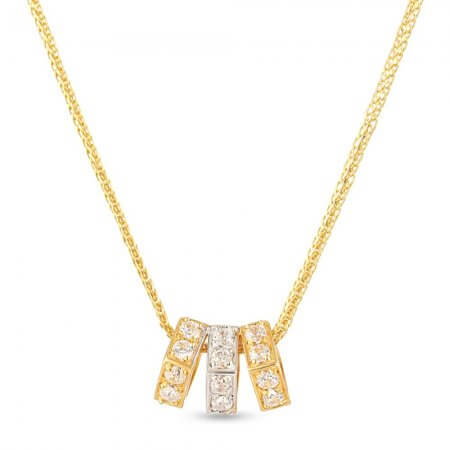 28666 - 22ct Yellow Gold Pendant with Cz stones