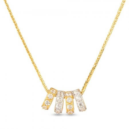 30329 - 22 Kt Gold Pendant with Cz stones