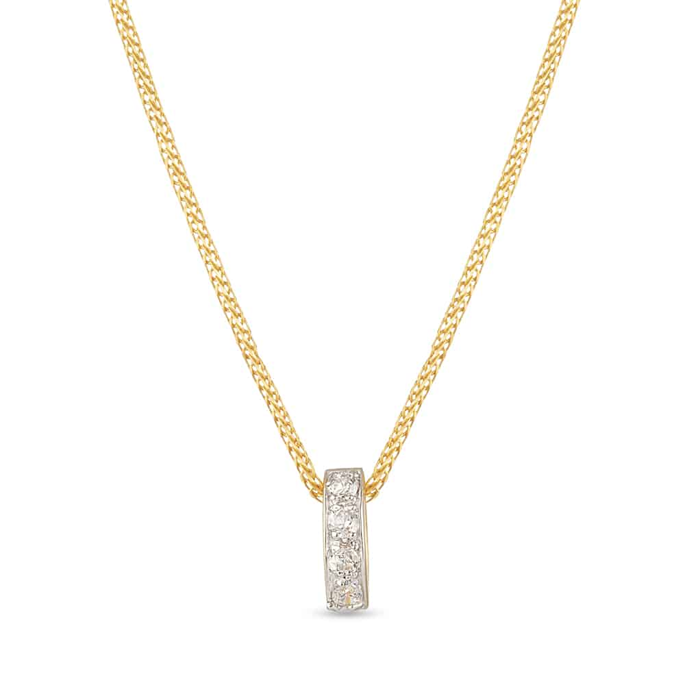 28655 - 22 Kt Yellow Gold Pendant with Cz stones