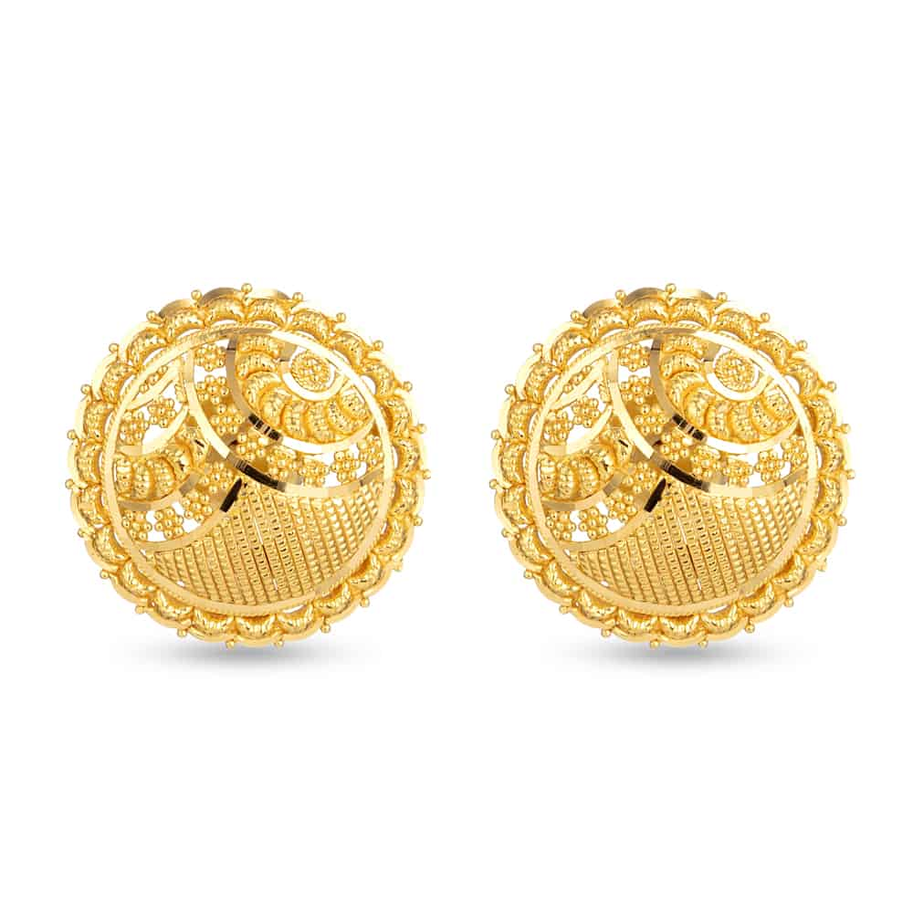 30708 - 22 Carat Yellow Gold Stud Earring