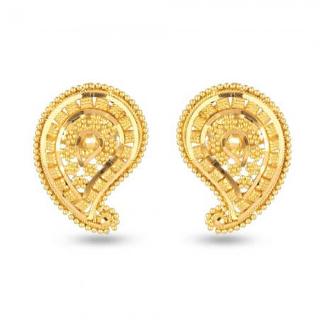 30713 - 22 Carat Yellow Gold Filigree Stud Earring