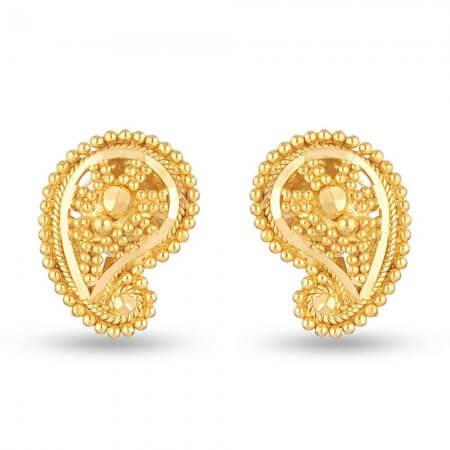 30713 - 22 Carat Yellow Gold Filigree Stud Earring