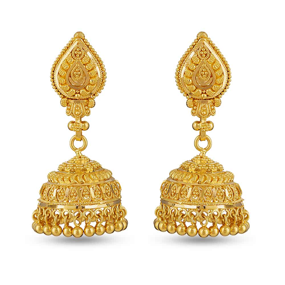 30274 - 22 Carat Gold Asian Jhumka