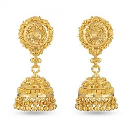 30275 - 22 Ct Gold Jhumka Earring Uk