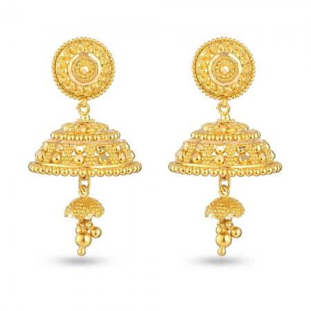 30777 - 22 Carat Gold Asian Jhumka