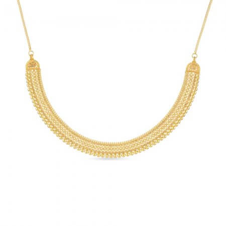 30801 - 22 Ct Gold Wide Jali Choker Necklace