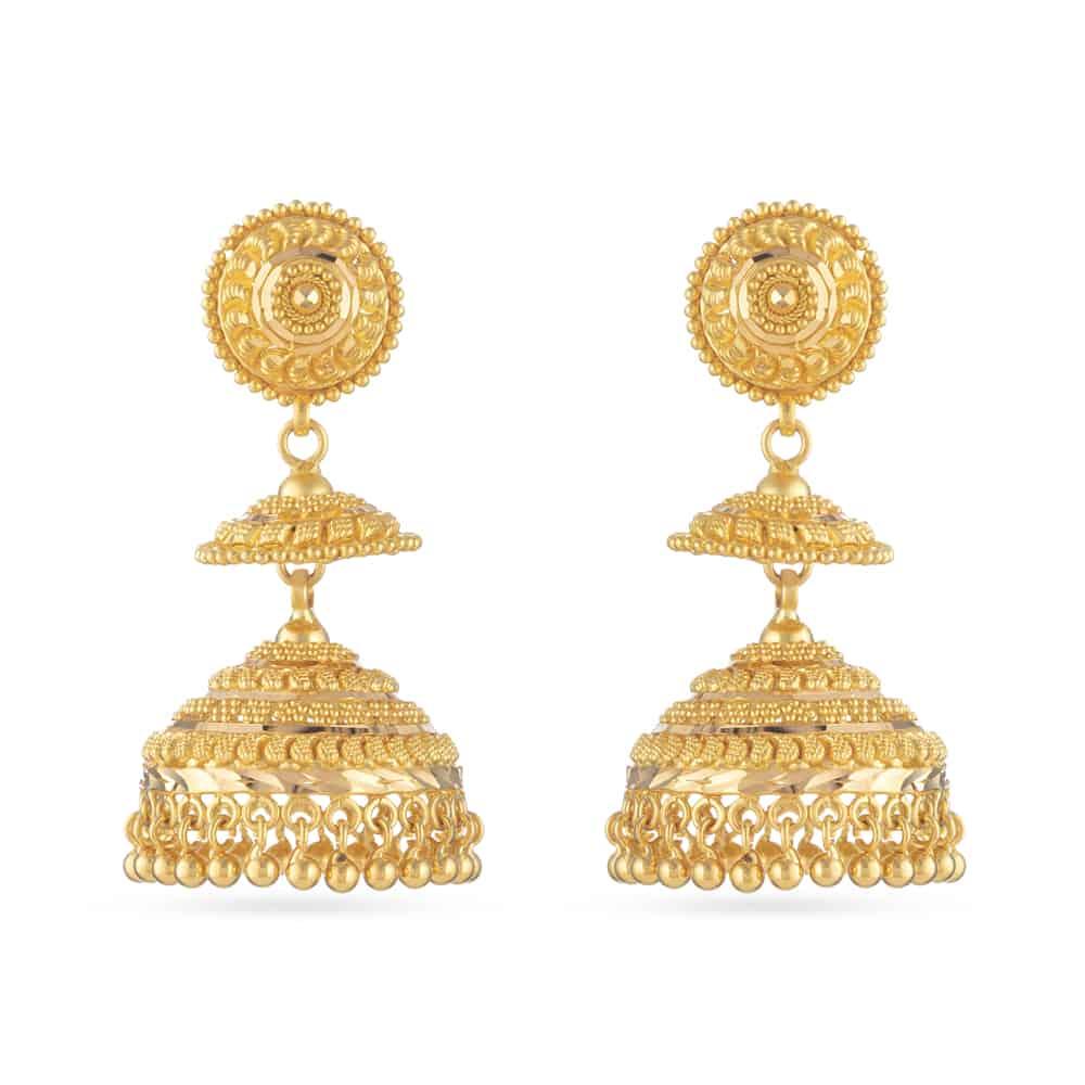 30802 - 22ct Gold Jhumka