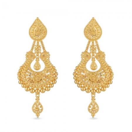 30804 - 22ct Gold Filigree Bridal Earring