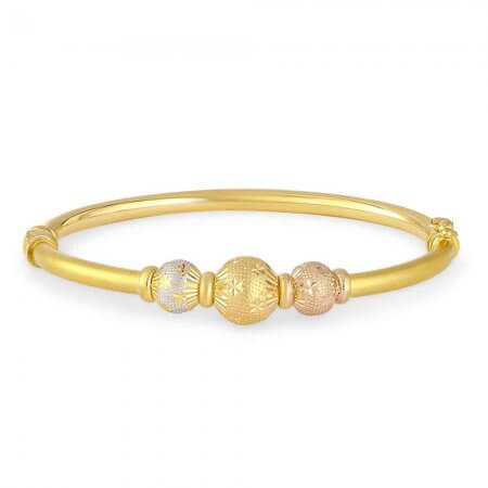 30797 - 22 carat Gold Sparkle Bangle