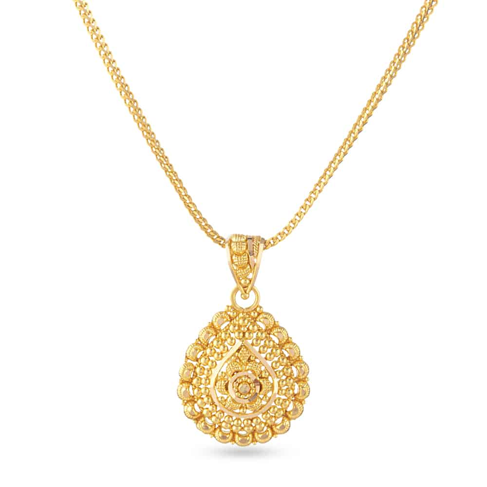 30827 - 22 Carat Gold Filigree Pendant