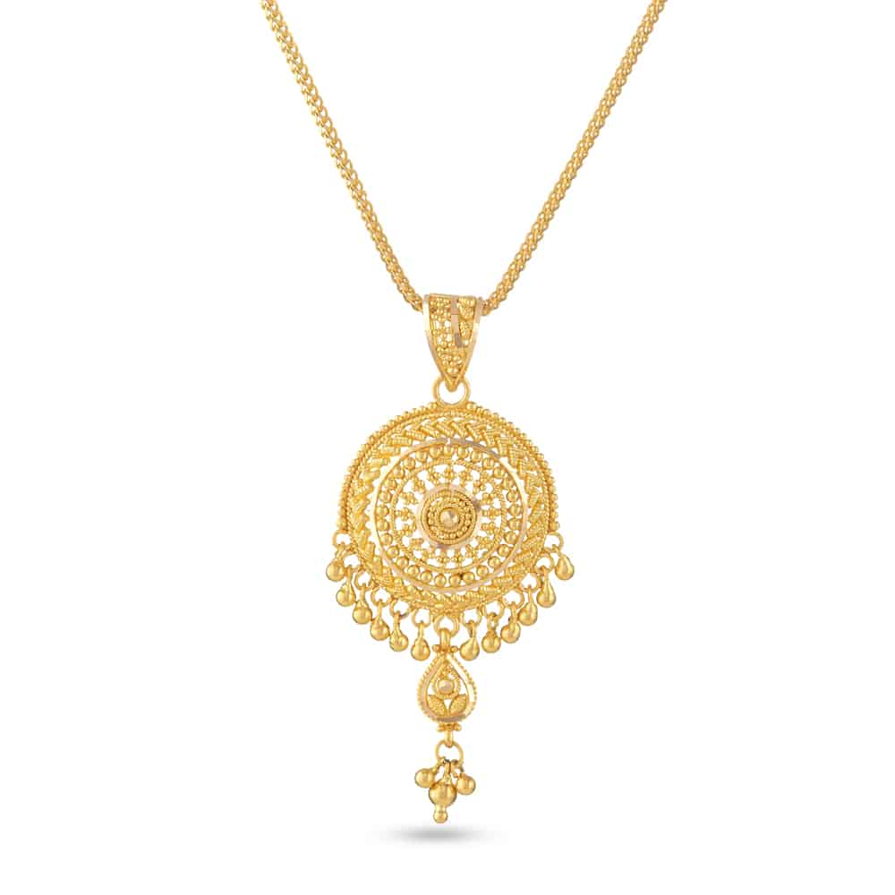 30829 - 22 Carat Gold Filigree Pendant
