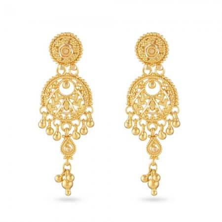 30830 - 22 Carat Yellow Gold Filigree Earring
