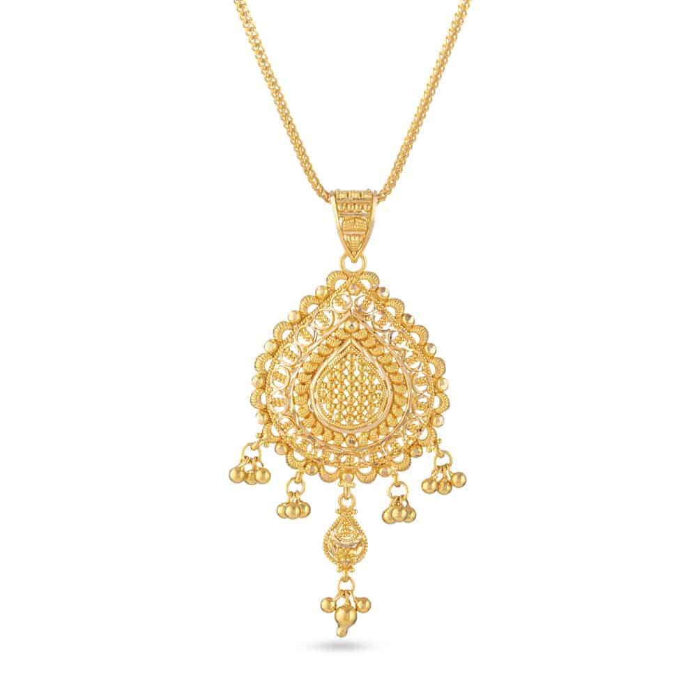 30831 - 22 Carat Gold Filigree Pendant