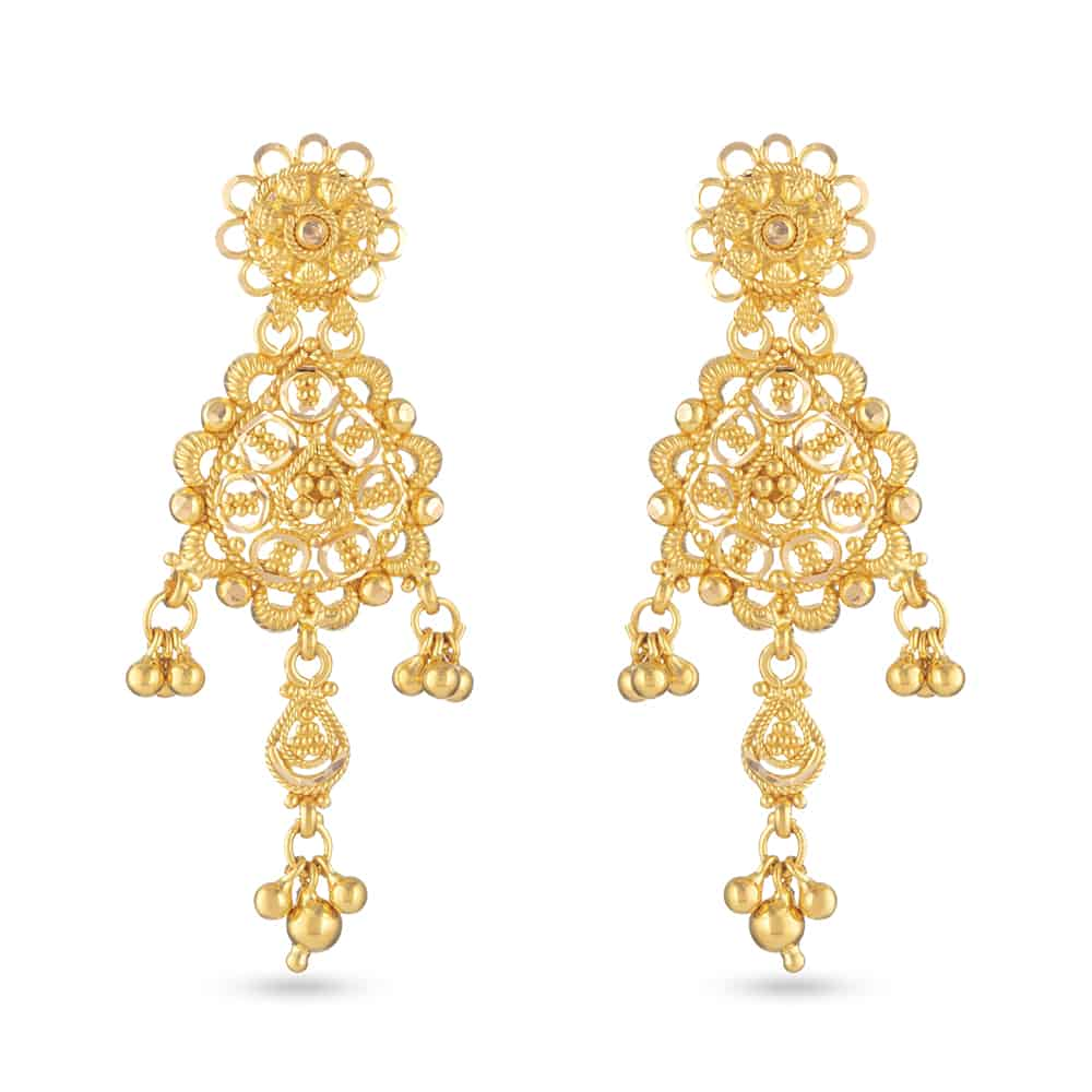 30832 - 22 Carat Gold Filigree Earring